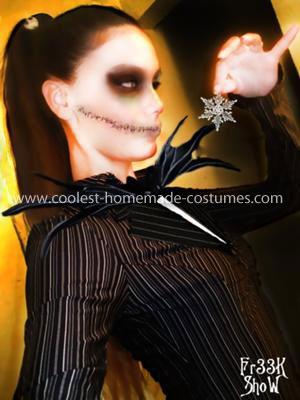 Coolest Homemade Jack Skellington Woman Costume