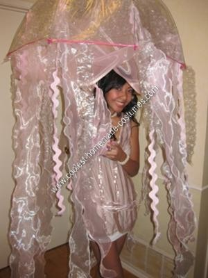 Homemade Jellyfish Unique Halloween Costume Idea