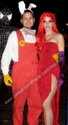 Homemade Jessica and Roger Rabbit Couple Costume