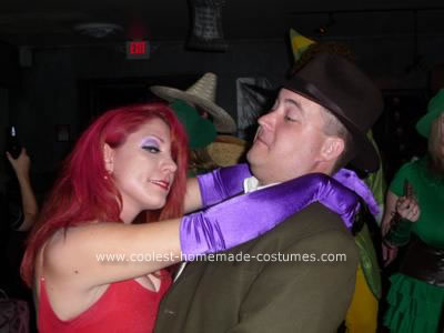 Homemade Jessica Rabbit and Detective Couple Costume