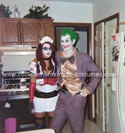 Homemade Joker and Harley Quinn (Arkham Asylum) Costume