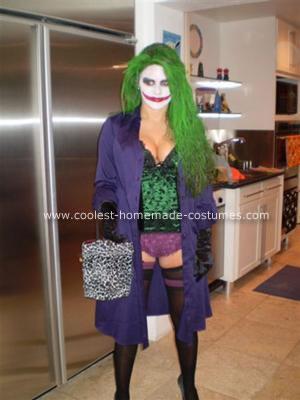 Homemade Jokeress Halloween Costume
