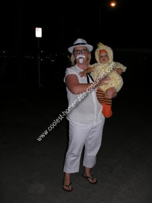 Homemade KFC Colonel Sanders and Baby Chicken Couple Costume