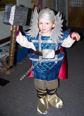 Homemade Kids Thor Costume