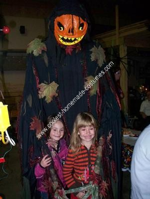 Homemade Killer Pumpkin Scary Halloween Costume