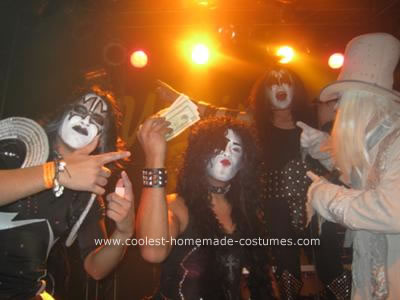 Homemade Kiss Gene Simmons Group Costume