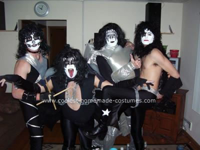 Homemade KISS Group Costume