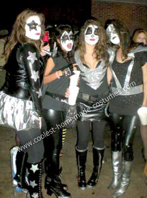 Homemade KISS Group Costume