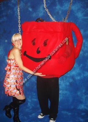 Homemade Kool Aid Man Costume