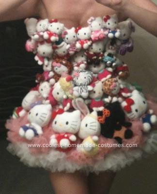 Homemade Lady Gaga Hello Kitty Costume
