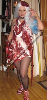 Homemade Lady Gaga Meat Dress Costume
