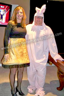 Homemade Leg Lamp and Ralphie from A Christmas Story Costumes