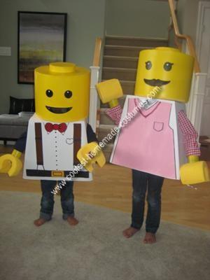 Homemade Lego Boy and Girl Minifig Couple Costume