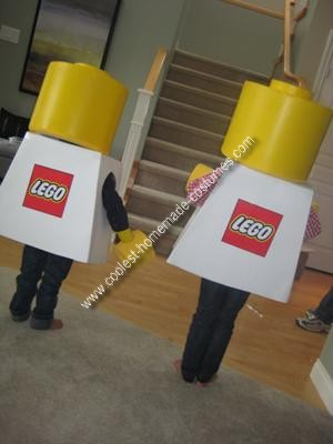 Homemade Lego Boy and Girl Minifig Couple Costume
