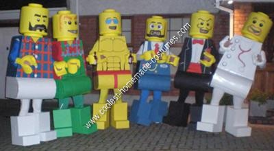 Homemade Lego Men Adult Group Costume Idea