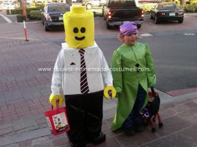 Homemade Lego Minifig Halloween Costume
