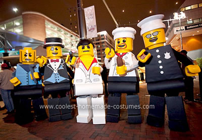Homemade Lego Minifigures Group Costume