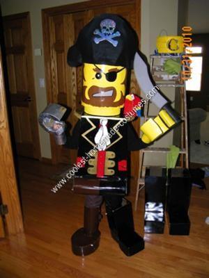 Homemade Lego Pirate Halloween Costume Idea