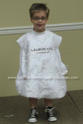 Homemade Leukocyte and the Germ Costume