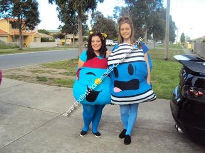 Homemade Little Miss and Mr Men Group Costumes