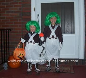 Homemade Little Oompa Loompas Costumes