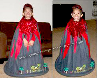 Homemade Little Volcano Costume