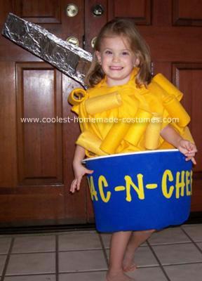 Homemade Mac-N-Cheeza Costume
