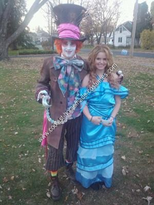 Homemade Mad Hatter and Alice Couple Costume Ideas