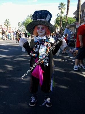 Homemade Mad Hatter Boy's Halloween Costume Idea