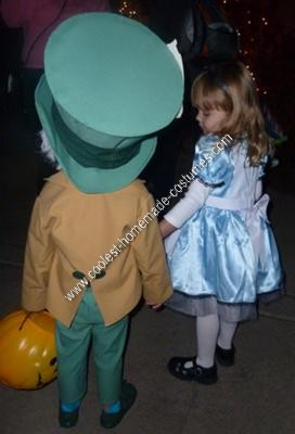 Homemade Mad Hatter Halloween Costume