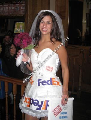Homemade Mail Order Bride Costume Idea