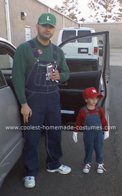 Homemade Mario and Luigi Costume