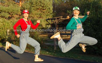 Homemade Mario and Luigi Costumes