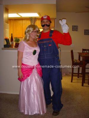 Homemade Mario and Princess Peach Costumes