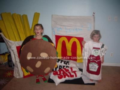 Homemade McDonalds Extra Value Meal Costume
