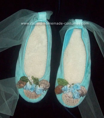 Homemade Mermaid Slippers