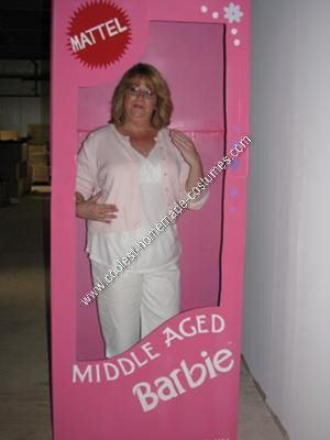 Homemade Middle Aged Barbie Halloween Costume