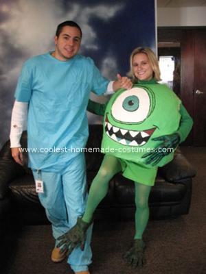 Homemade Mike Wazowski Halloween Costume