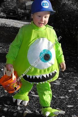 Homemade Mike Wazowski Unique Boy's Halloween Costume Idea