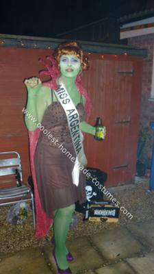 Homemade Miss Argentina from Beetlejuice Costume