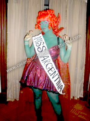 Homemade Miss Argentina from Beetlejuice Halloween Costume