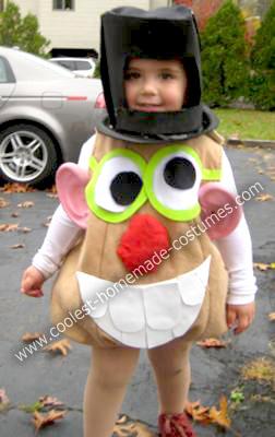 Homemade Mister Potato Head Child Halloween Costume