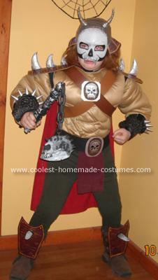 Homemade Mortal Kombat  Shao Kahn Costume