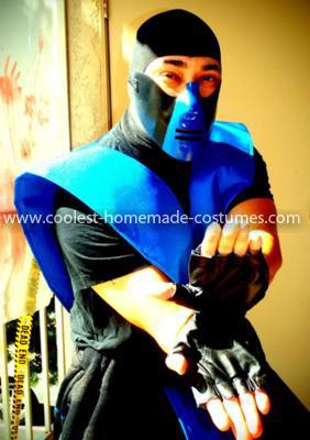 Homemade Mortal Kombat Sub Zero Costume