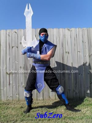 Homemade Mortal Kombat: SubZero The Frozen Master Costume