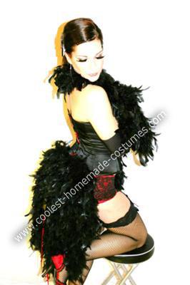 Homemade Moulin Rouge Burlesque Dancer Costume