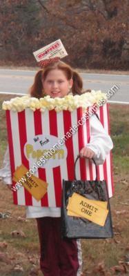 Homemade Movie Night Halloween Costume Idea
