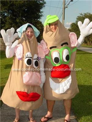 Homemade Mr. and Mrs. Potato Head Costume