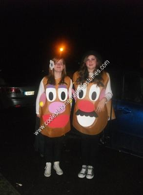 Homemade Mr. and Mrs. Potato Head Halloween Costume Idea