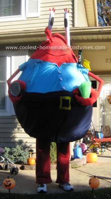 Homemade Mr. Krabs Costume